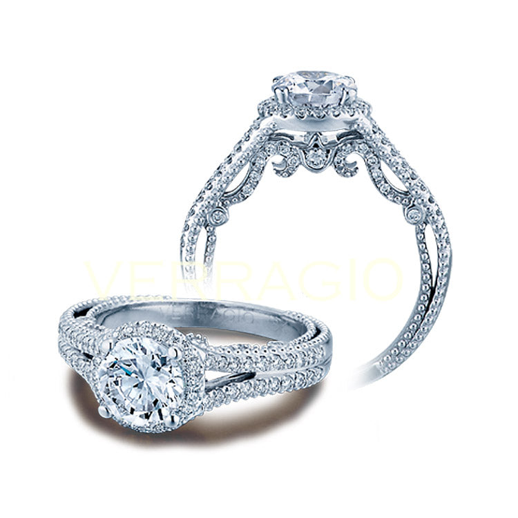 Verragio Halo Round Center Diamond Engagement Ring INSIGNIA-7062R