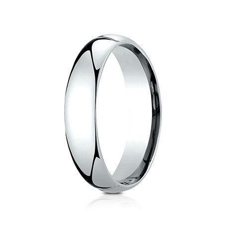Benchmark Men's 14K White Gold 5mm comfort-fit Domed Profile Wedding Band LCF150W