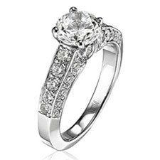 Scott Kay Radiance Platinum Round Center Engagement Ring M1118R310
