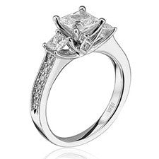Scott Kay Signature Princess-cut Engagement Ring M1599R310