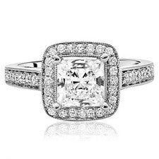Scott Kay Luminaire Princess-cut Diamond Engagement Ring M1606R310