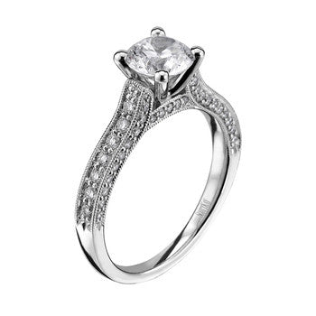 ScottKay 19K White Gold Diamond Engagement Ring M1617R310