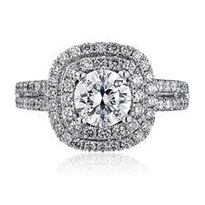 ScottKay Double Halo Diamond Engagement Ring M1618R310
