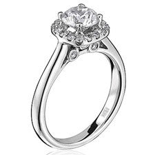 ScottKay 19K White Gold Diamond Engagement Ring M1677R310