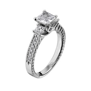 ScottKay 19K White Gold Diamond Engagement Ring M1745QR310