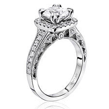 Scott Kay Heaven's Gates Princess-cut Diamond Engagement Ring M1823R720