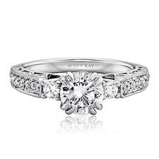 Scott Kay Heaven's Gates Diamond Engagement Ring M1824R510