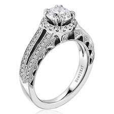Scott Kay Heaven's Gates Diamond Engagement Ring M1827R310