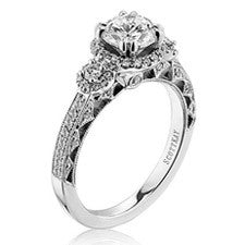 Scott Kay Heaven's Gates Round Center Engagement Ring M1828R310