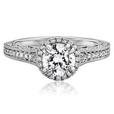 Scott Kay Dream Round Center Engagement Ring M1862R510