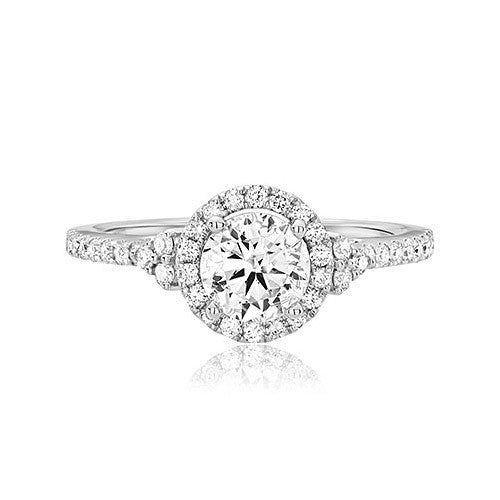 Scott Kay Halo Diamond Engagement Ring M2019R507
