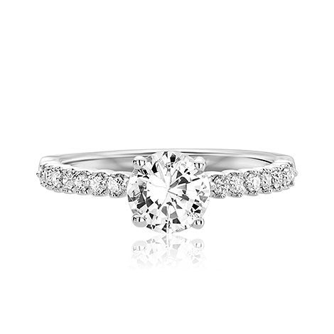 Scott Kay Radiance 14K White Gold Engagement Ring M2023R510
