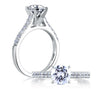 A.JAFFE Cathedral Classic Platinum Engagement Ring ME1353 / 30