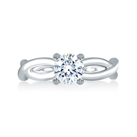 A.JAFFE 18K White Gold Engagement Ring ME1638Q/100