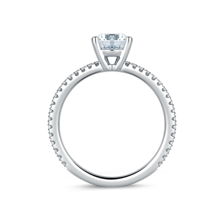 A.JAFFE 18K White Gold Classic Micro Pavé Engagement Ring ME1774/189