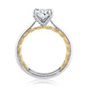 A.JAFFE Elegant Two Tone Oval Cut Diamond Engagement Ring MECOV2334Q/156