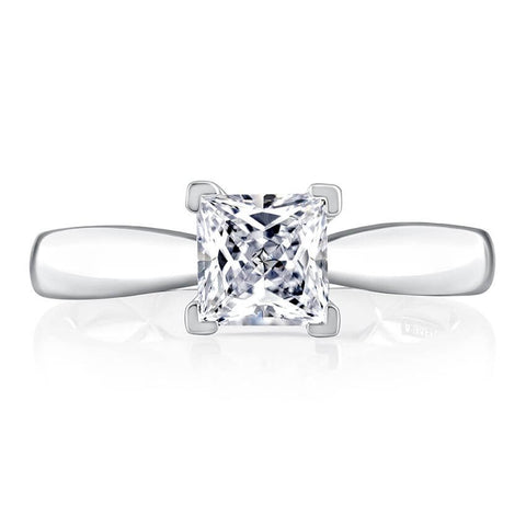 A.Jaffe MECPC2376Q Round Solitaire Mounting with beautiful pave detail in undergallery