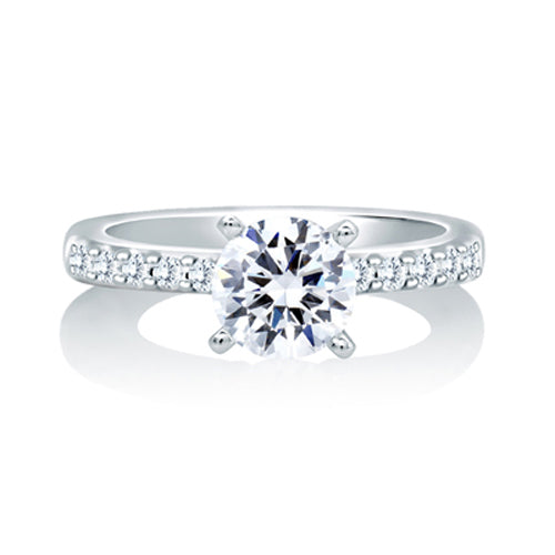 A.JAFFE Timeless Classic Shared Prong Engagement Ring MES078/40