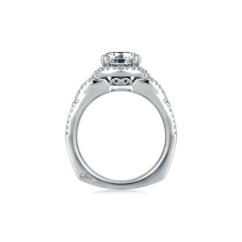A.JAFFE Artistic Diamond Braided Engagement Ring MES283 / 38