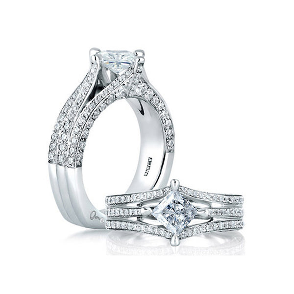 A.JAFFE New York City Skyline Inspired Engagement Ring MES404/602