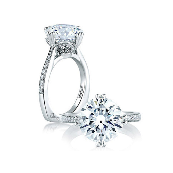 A.JAFFE Round Statement Engagement Ring MES421