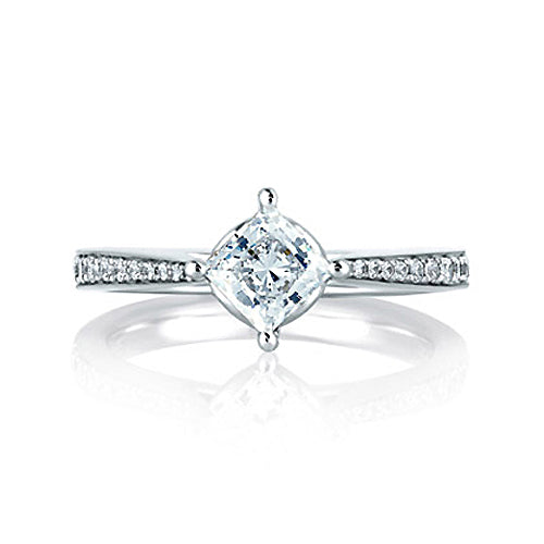 A.JAFFE 18K White Gold Diamond Engagement Ring MES430/82