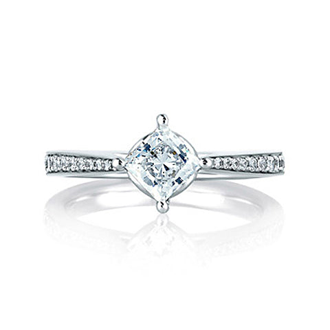 A.JAFFE 18K White Gold Diamond Engagement Ring MES430 / 82