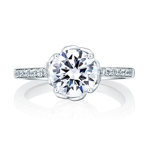 A.JAFFE Art Designed Nature Inspired Engagement Ring MES563/162