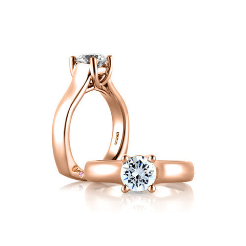 A.JAFFE Classic Pink Solitaire Engagement Ring MES582 / 100