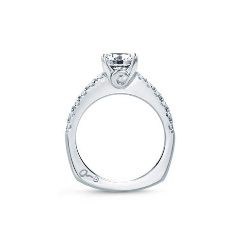 A.JAFFE Classic Round Diamond Center Solitaire Engagement Ring MES667 / 48
