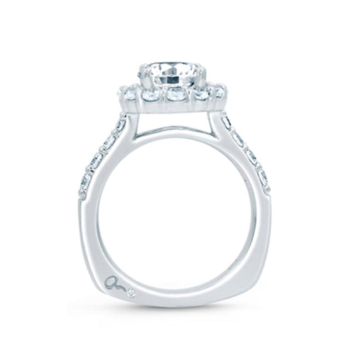 A.JAFFE Classic Round Diamond Center Halo Engagement Ring MES691/246
