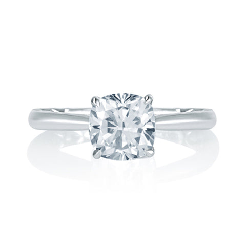 A.JAFFE Peek-A-Boo Pavé Profile Cushion Center Engagement Ring MES760Q/207