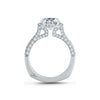 A.JAFFE Quilted 18K White Gold Halo Diamond Engagement Ring MES761/212