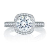 A.JAFFE 18K White Gold Diamond Engagement Ring MES761 / 212