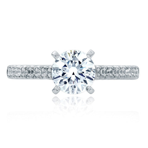 A.JAFFE Cathedral Four Prong Engagement Ring MES830/125
