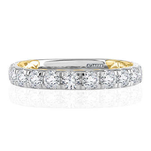 A.JAFFE Modern Two Tone Diamond Wedding Ring MRCRD2348Q/160