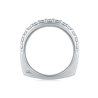 A.JAFFE Halfway Shared Prong Diamond Wedding Band MRS168/21