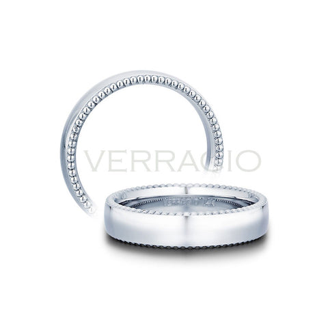 Verragio 14K White Gold Men's Wedding Band MV-5N02