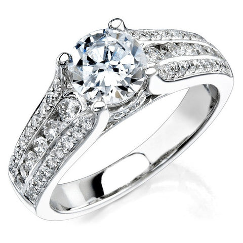 Natalie K 18k White Gold Diamond Ring NK12118ENG