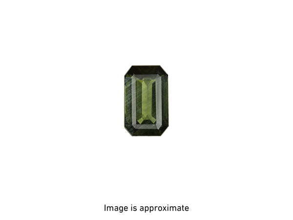 GIA Octagonal Step Cut 9.31 CT Yellowish Green Diamond