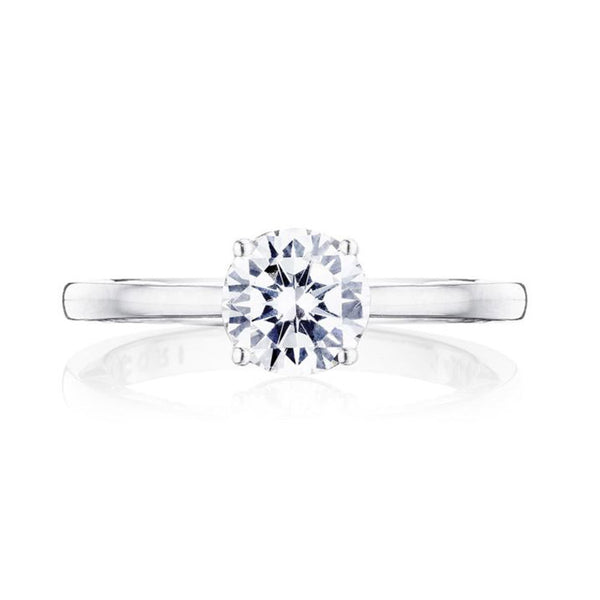 Tacori Coastal Crescent 14K White Gold Solitaire Diamond Ring P100RD7FW