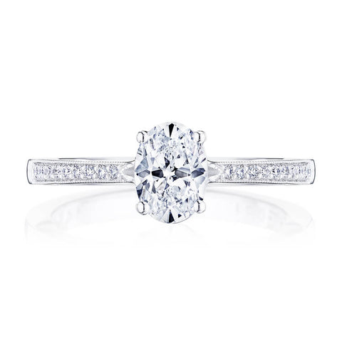 Tacori Coastal Crescent Oval Center Engagement Ring P102OV8X6FW