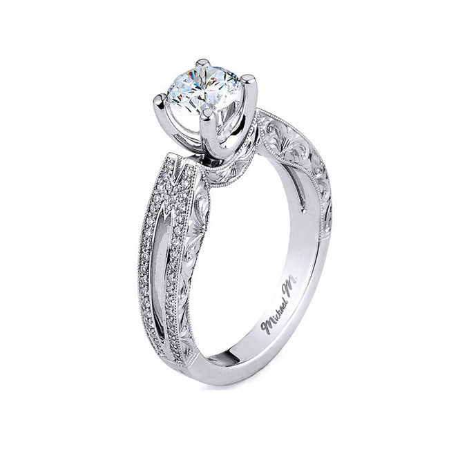 Michael M. Diamond Engagement Ring R593-0.75
