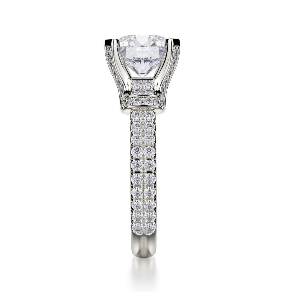 Michael M Europa 18K White Gold Diamond Engagement Ring R674-2