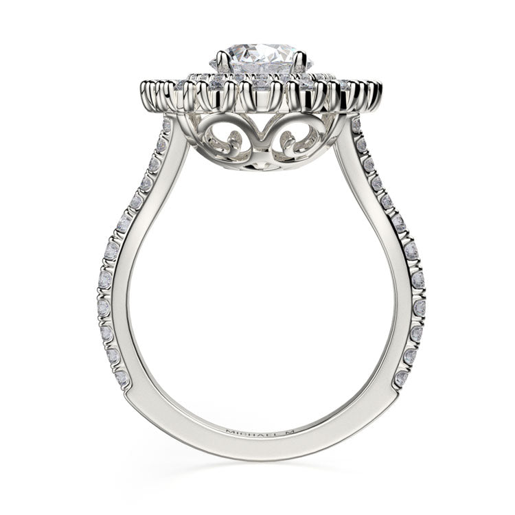 Michael M Europa 18K White Gold Diamond Engagement Ring R718-2