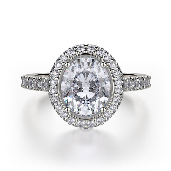 Michael M Oval Shaped Center Diamond Engagement Ring R737-2OV