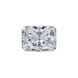 EGL USA 0.52 CT Cut Corner Rectangular Mixed Cut, F, SI1, Excellent Polish, Very Good Symmetry