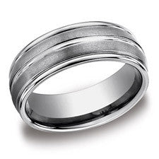 Benchmark Tungsten 8mm Men's Wedding Band RECF58180TG