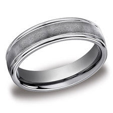 Benchmark Tungsten 6mm Men's Wedding Band RECF7602STG