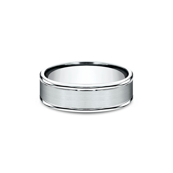 Benchmark Comfort-fit Classic 14K White Gold 7MM Men's Wedding Band RECF7702S